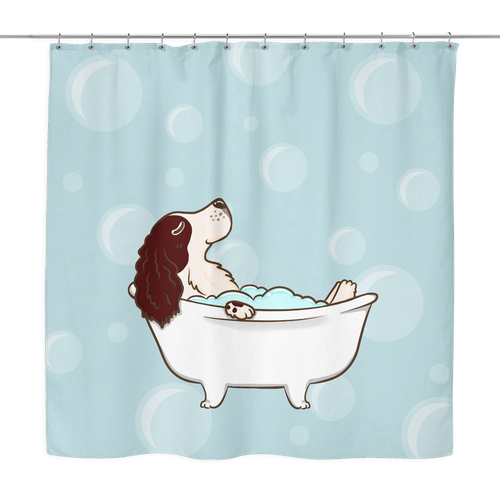 English Springer Spaniel Dog Shower Curtain Bathroom Decor Dog Animal  Lovers THE PAWSTER