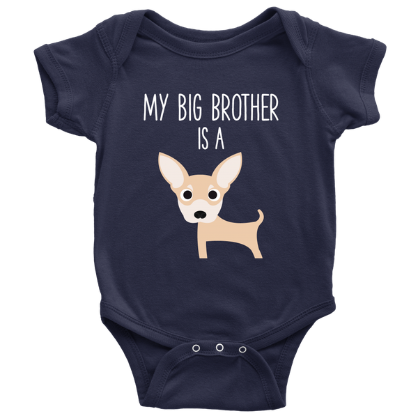 cool baby clothes Baby Shower Gift Set Arrival funny onesies My Big Brother or BIg Sister is a Shih Tzu Onesies and Hat for Babies