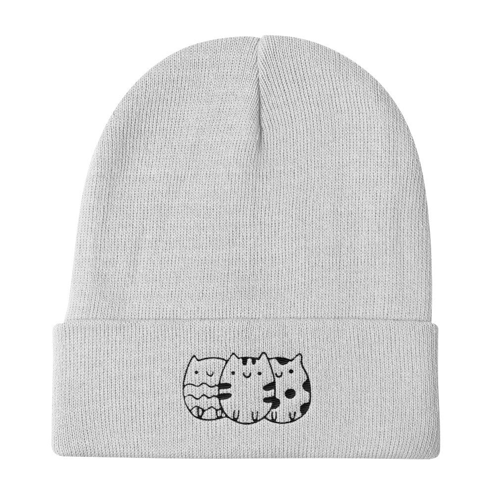 cdb72aad810 Cute Cat Knit Beanie Hats for Men