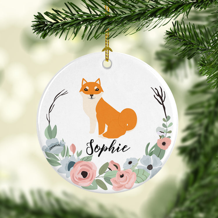 ... Personalized Shiba Inu Christmas Ornament, Dog Ornaments-dog animal  lovers-THE PAWSTER ... - Personalized Shiba Inu Christmas Ornament, Dog Ornaments - THE PAWSTER