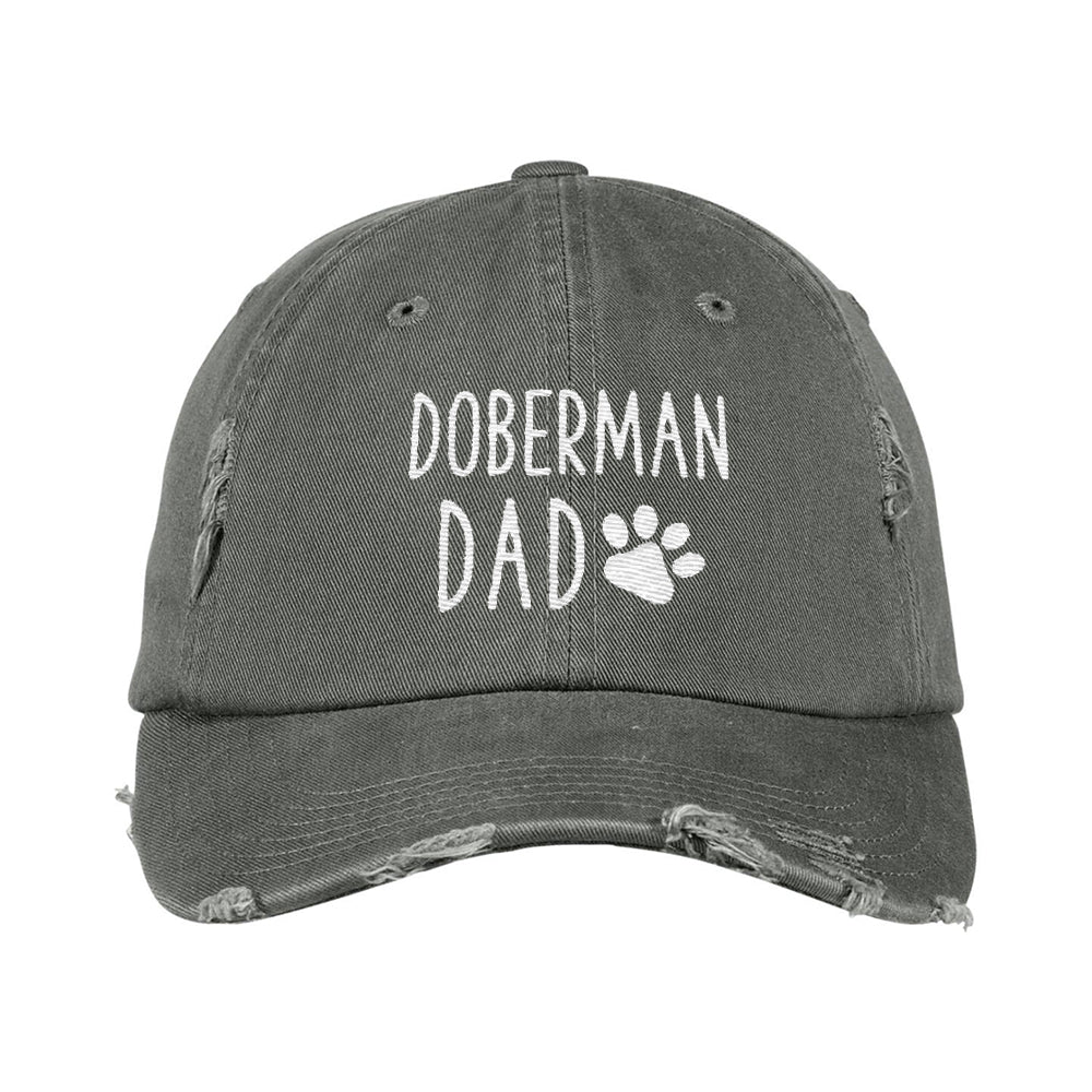 35070e9345a19 Doberman Dad Distressed Hat
