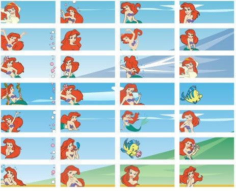 Small Ariel Name Stickers
