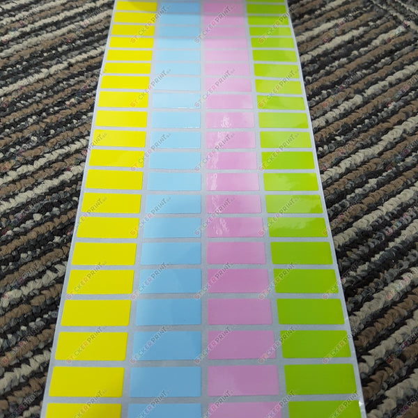 Small Plain Coloured Name Stickers