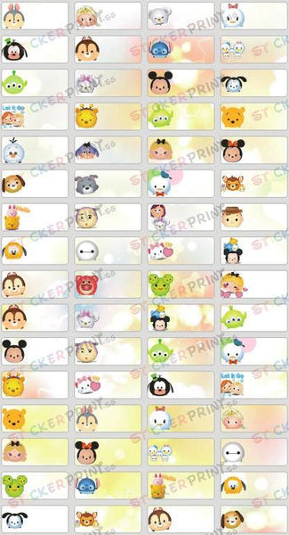 Small Tsum Tsum Name Stickers