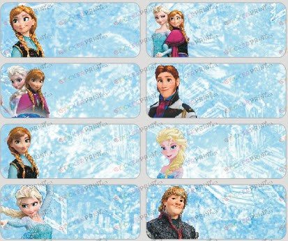 Large Frozen Name Stickers