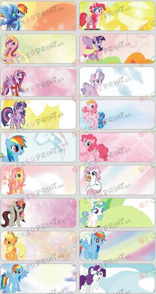 Large Little Pony Name Stickers