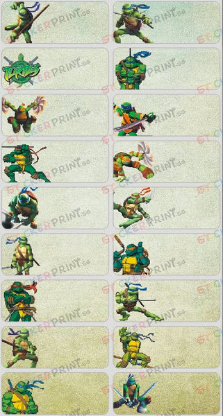 Large Ninja Turtles Name Stickers