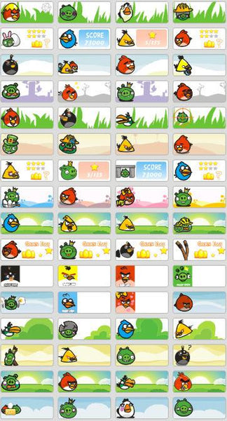 Small Angry Birds Name Stickers