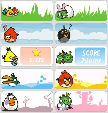 Large Angry Birds Name Stickers