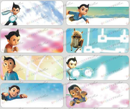 Large Astro Boy Name Stickers