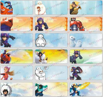 Medium Big Hero 6 Name Stickers