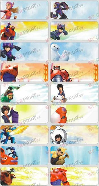 Large Big Hero 6 Name Stickers