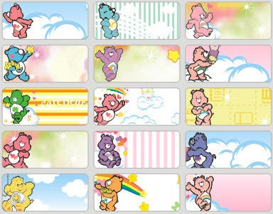Medium Care Bear Name Stickers