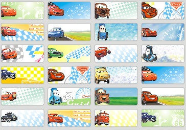 Small Cars Name Stickers