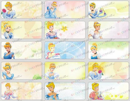 Medium Cinderella Name Stickers