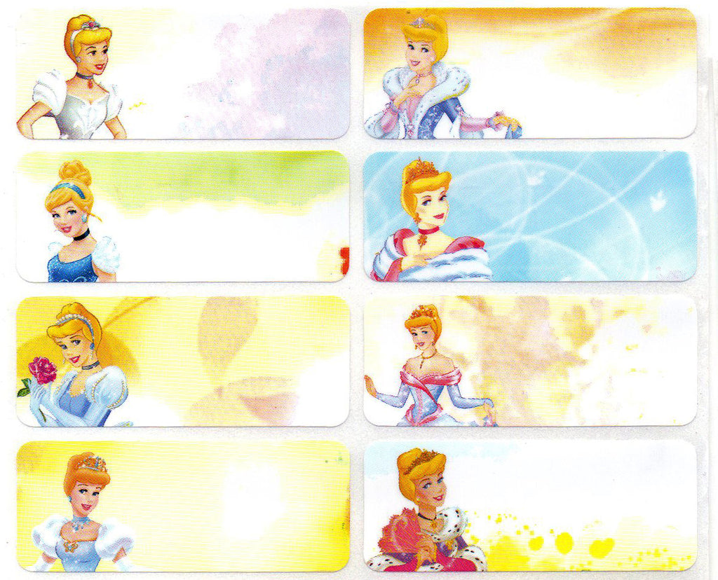 Large Cinderella Name Stickers