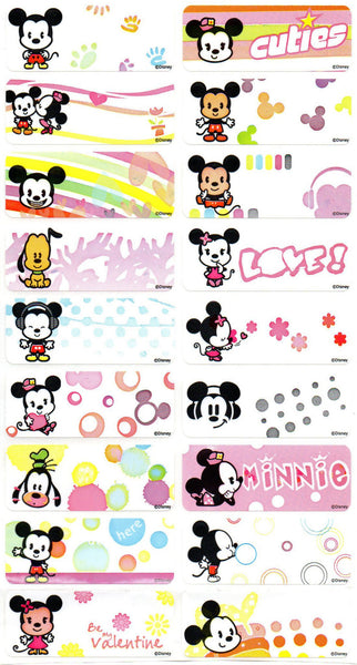 Large Cute Mickey Name Stickers