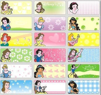Medium Disney Princess Name Stickers