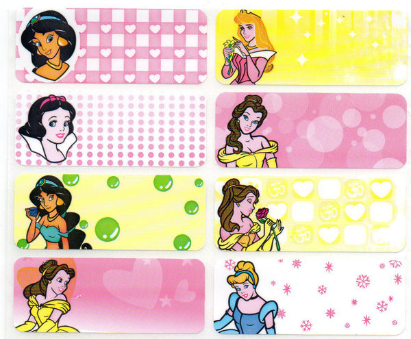 Large Disney Princess Name Stickers