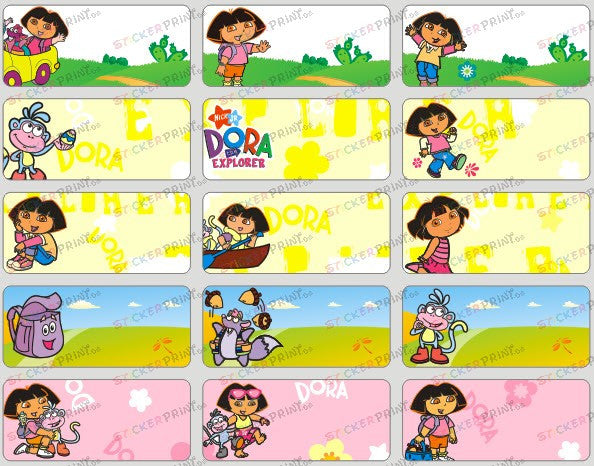 Medium Dora Name Stickers