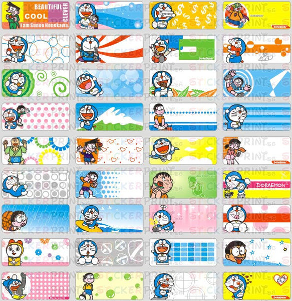 Small Doraemon Name Stickers