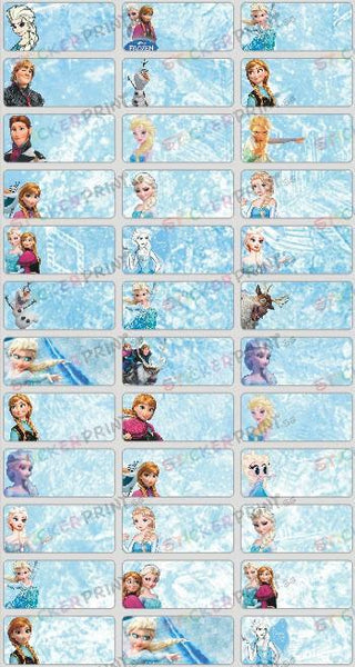 Medium Frozen Name Stickers