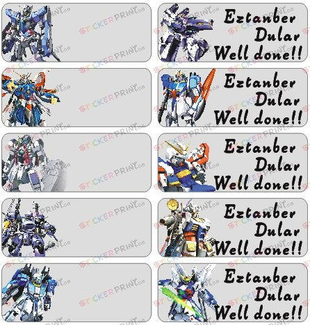 Large Gundam Name Stickers