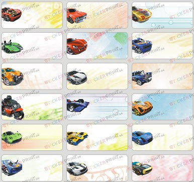 Medium Hot Wheels Name Stickers