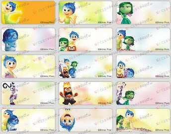 Medium Inside Out Name Stickers