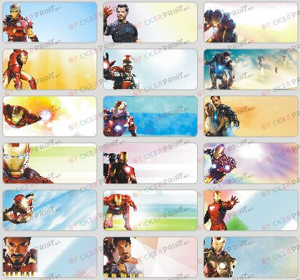 Medium Iron Man Name Stickers