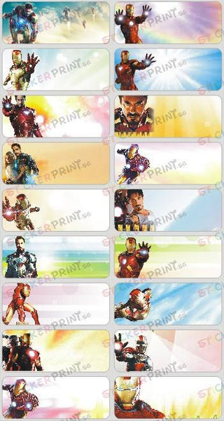Large Iron Man Name Stickers
