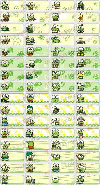 Small Keroppi Name Stickers