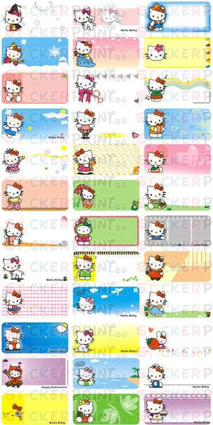 Medium Hello Kitty Name Stickers