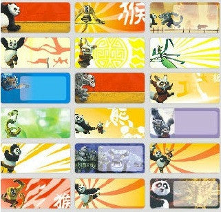 Medium Kungfu Panda Name Stickers