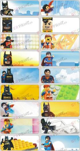 Large Lego Movie Name Stickers