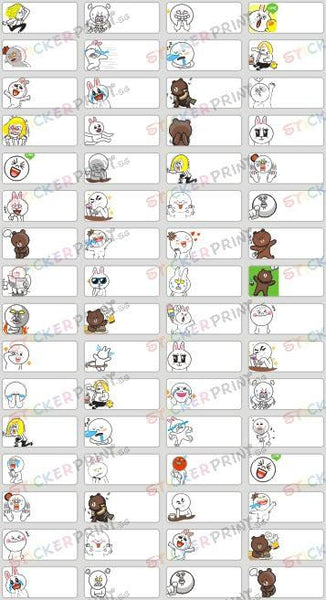 Small Line Cartoon Name Stickers