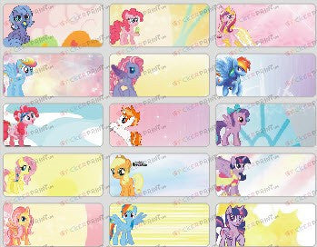 Medium Little Pony Name Stickers
