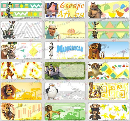 Medium Madagascar Name Stickers