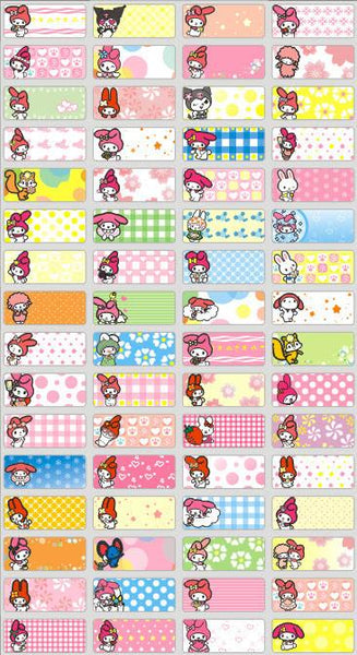 Small My Melody Name Stickers