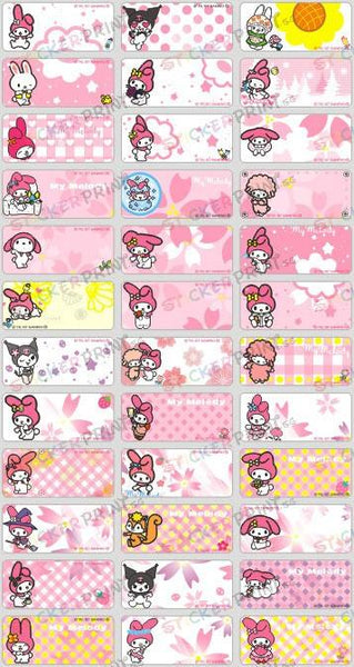 Medium My Melody Name Stickers