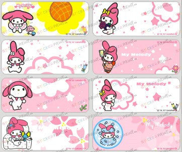 Large My Melody Name Stickers