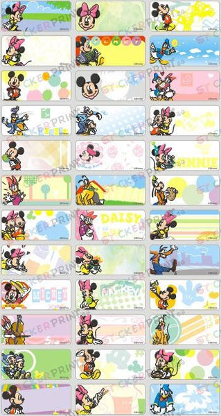 Medium Mickey Name Stickers