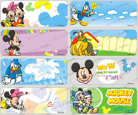 Large Mickey Name Stickers