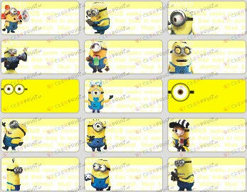 Medium Minions Name Stickers