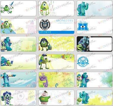 Medium Monster University Name Stickers