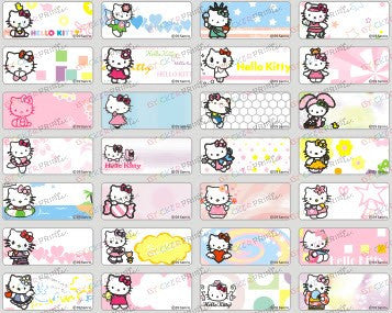 Small Hello Kitty (Ver2) Name Stickers