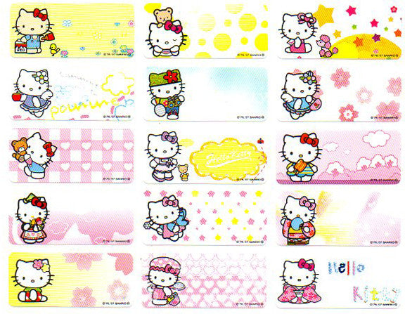 Medium hello kitty ver2 name stickers