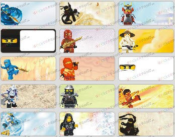 Medium Ninjago Name Stickers