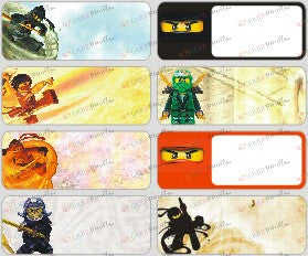 Large Ninjago Name Stickers