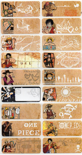Large One Piece Name Stickers